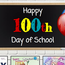 100th Day of School Library