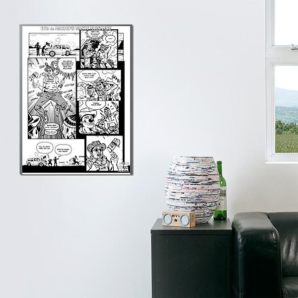 Meat Stix Comic Book Ad - Thumb World Order (WALL ART)