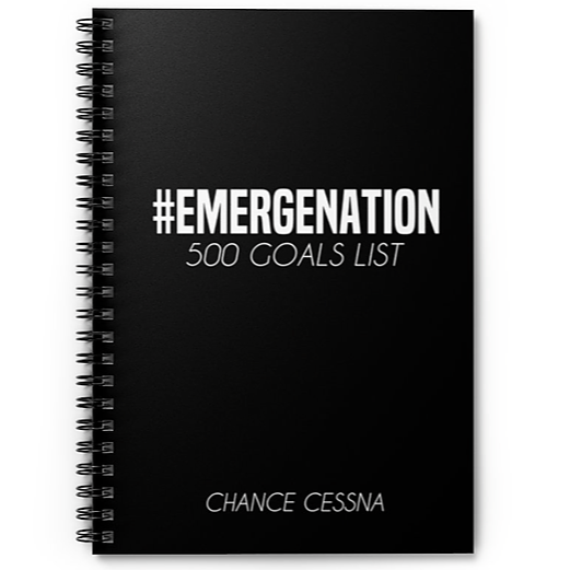 500 Goals Notebook