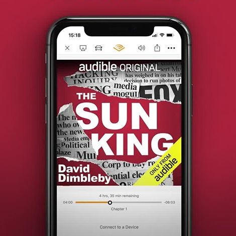 Audible UK The Sun King Link Thumbnail | Linktree