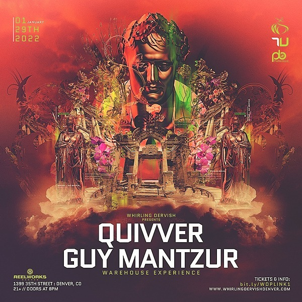 @whirlingdervishproductions Quivver & Guy Mantzur Warehouse Experience | Denver 1/29/22 Tickets Link Thumbnail | Linktree