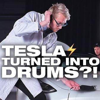 We Turned a TESLA Into DRUMS