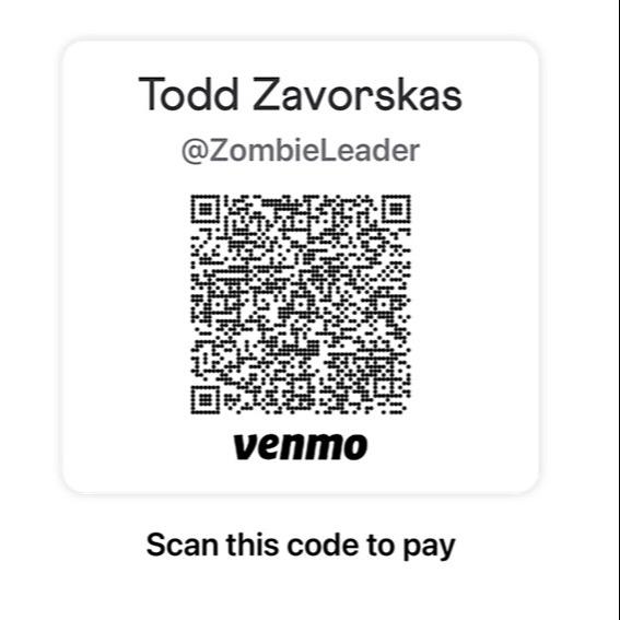 @ZombieLeader Zombie Leader Venmo Donations Link Thumbnail | Linktree