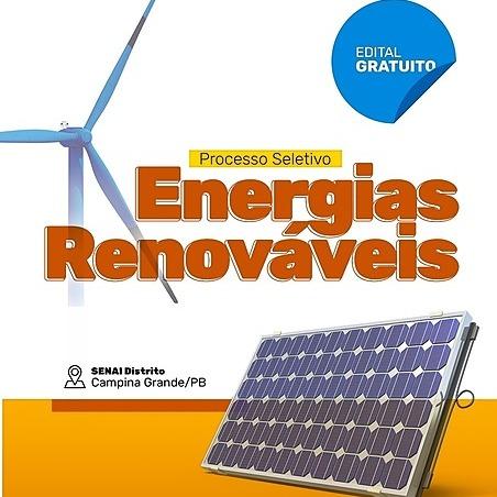 @senaiparaiba INSCRIÇÕES | Processo Seletivo Energias Renováveis | VAGAS GRATUITAS  | CG Link Thumbnail | Linktree