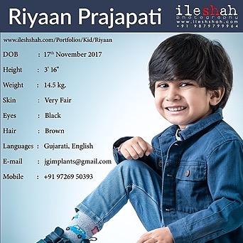 Now Promoting Kid Model Riyaan