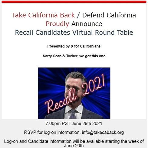 @governorwildstar Take California Back Round Table Link Thumbnail | Linktree
