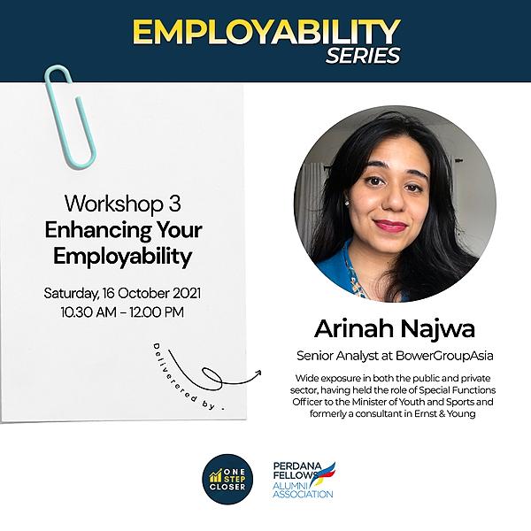 One Step Closer Enhance Your Employability ft. Arinah Najwa Link Thumbnail | Linktree