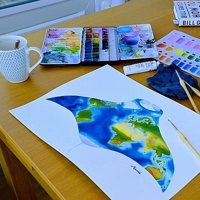 @undertheseaart Buy me a art supplies <3  Link Thumbnail | Linktree