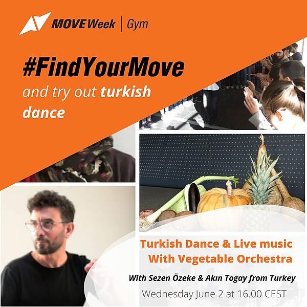 Wed, 16.00 CEST - Turkish Dance & Live music with Vegetable Orchestra, Sezen Özeke & Akın Togay