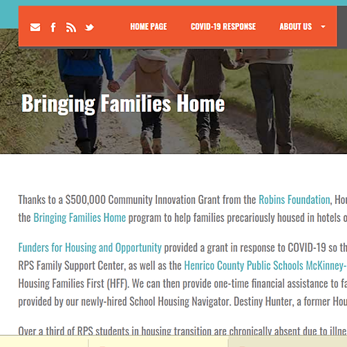 Housing Families First Bringing Families Home Link Thumbnail | Linktree