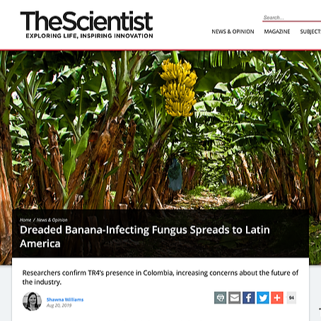 """Featured in  """"The Scientist"""""""
