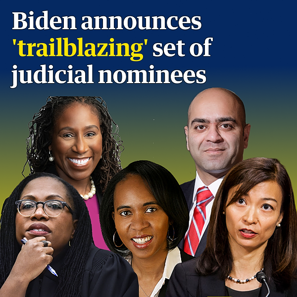 'Best and brightest': Biden announces 'trailblazing' slate of judicial nominees