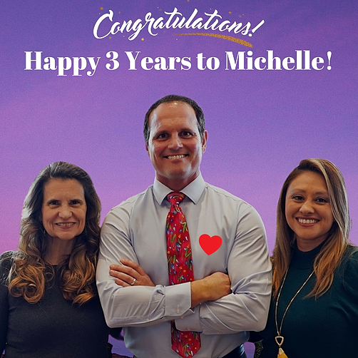 Happy 3 Years to Michelle, our Global Operations Director!
