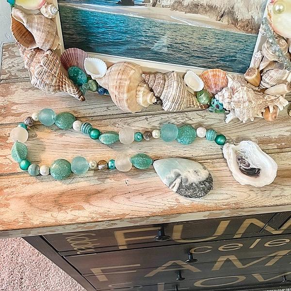 FROSTINGJEWELRY Coastal Sea Glass Beaded Garland Link Thumbnail   Linktree