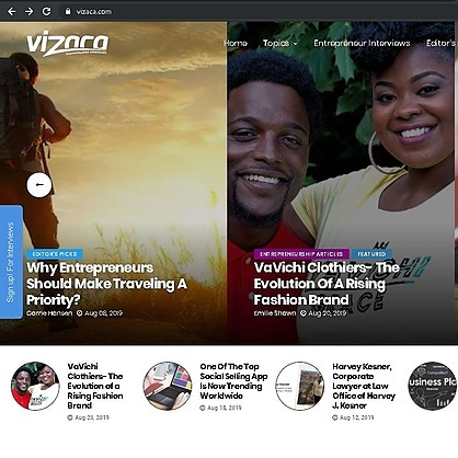 @VaVichiroyalty Vizaca Business Magazine Feature Link Thumbnail   Linktree