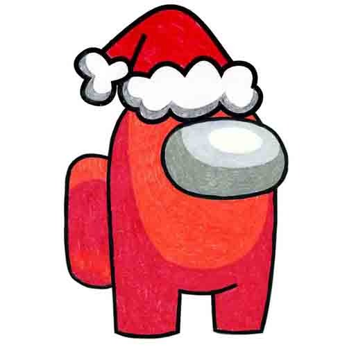 @artprojectsforkids Draw Among Us Santa Link Thumbnail   Linktree
