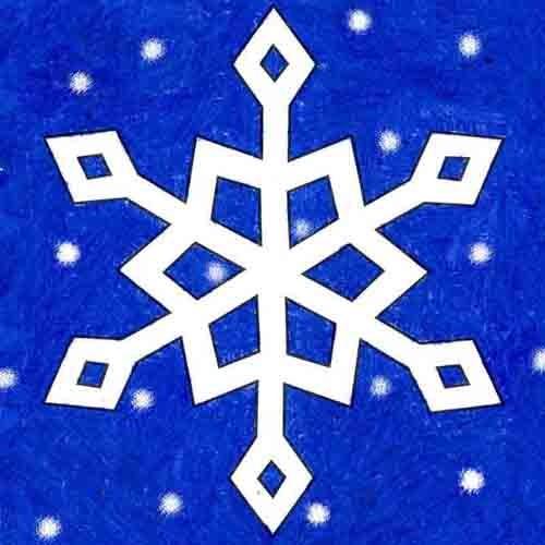@artprojectsforkids Draw a Snowflake Link Thumbnail   Linktree