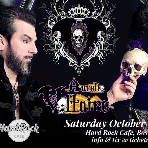 @rockonconcerts Sat 10/16 - Aurelio Voltaire @ Hard Rock Cafe Boston - On Sale Fri 6/11 10am Link Thumbnail | Linktree