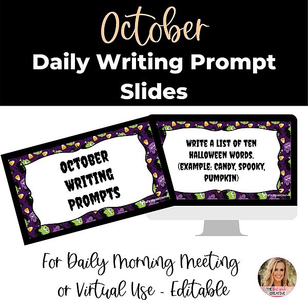 @thefirstgradecreative October Daily Writing Prompt  Link Thumbnail   Linktree