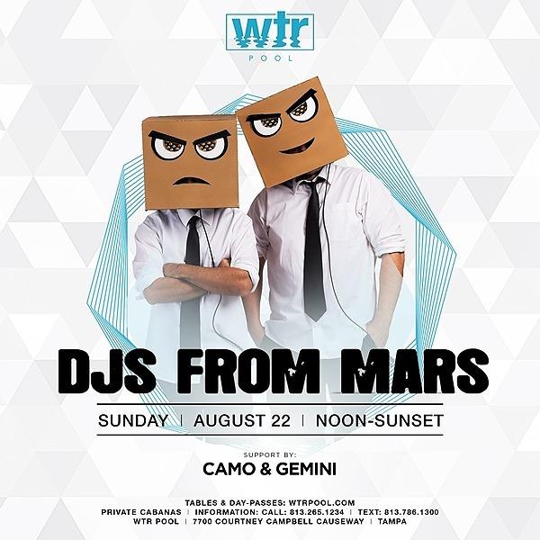 8.22 Pool Party Sunday's w/ DJs from Mars