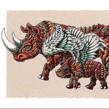 Rhino Art Red Variant