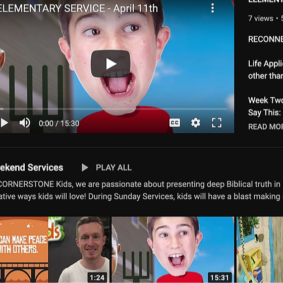 Cornerstone Kids Nashville CKids Online YOUTUBE Link Thumbnail | Linktree