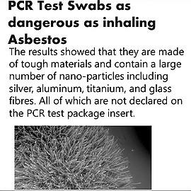 @VaccineChoiceCA Asbestos Comparison to PCR Swab Link Thumbnail | Linktree