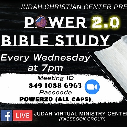 Bible Study ~ Wednesdays at 7pm
