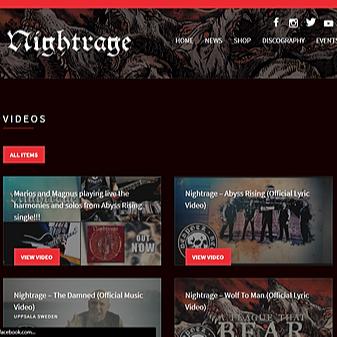 Nightrage videos