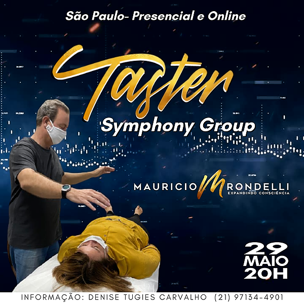 Symphony Group Taster- em São Paulo- Presencial e Online- 29/05 - 20h