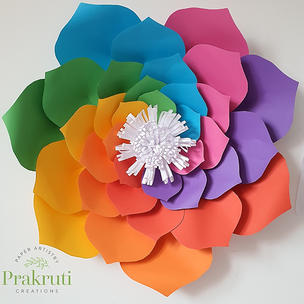 Rainbow Flower Making class - 12/4/21 - 3-5pm
