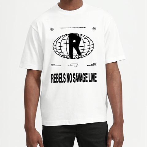 "Rebels No Savage ""Rebels No Savage LIVE"" White Tee Link Thumbnail   Linktree"