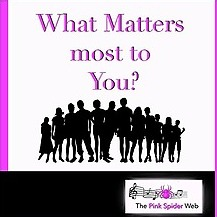 @thepinkspiderweb What Matters Most to You? - PSW Podcast Spotify Link Thumbnail   Linktree