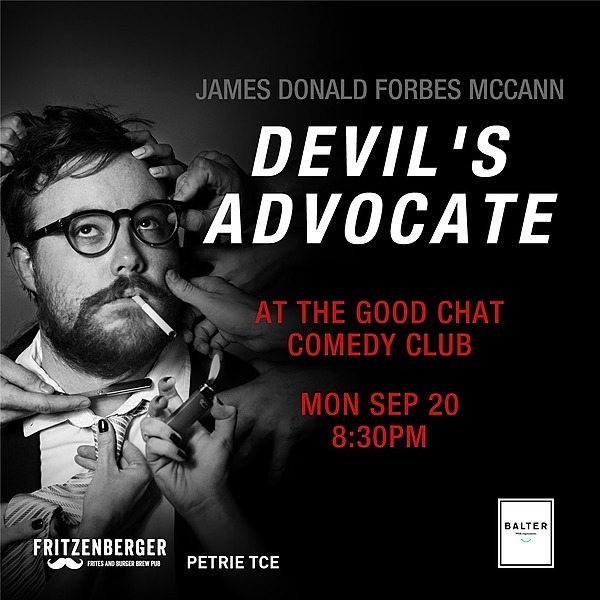 @goodchatcomedy Get tickets to James Donald Forbes McCann | Devil's Advocate [Sept 20] Link Thumbnail | Linktree