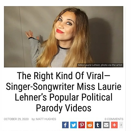 @MissLaurieLehner THE RIGHT KIND OF VIRAL: Singer-Songwriter Miss Laurie Lehner's Popular Political Parody Videos  Link Thumbnail | Linktree