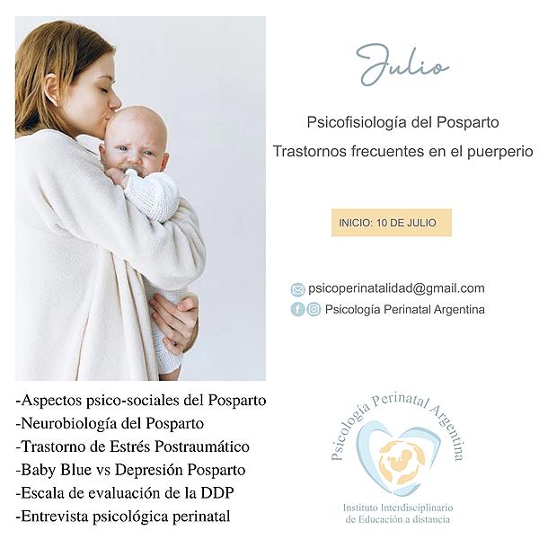 """@Psicologiaperinatalargentina Curso JULIO: """"PSICOFISIOLOGÍA DEL POSPARTO"""" Link Thumbnail   Linktree"""