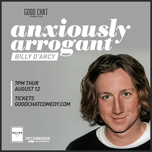 Get tickets to Billy D'Arcy | Anxiously Arrogant [Aug 12]