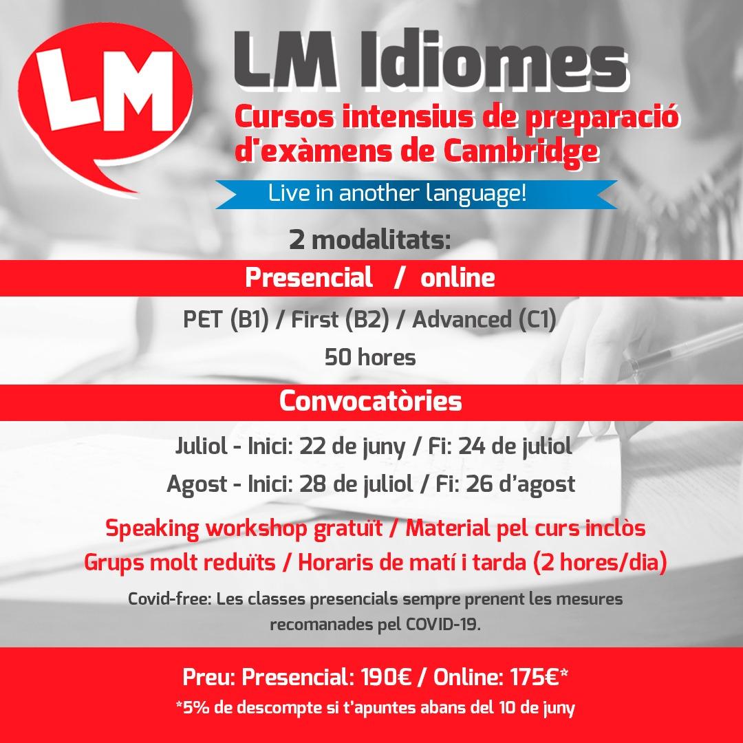 @lmidiomeslleida Cursos Intensius de preparació d'exàmens de Cambridge Link Thumbnail   Linktree