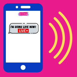 Receive a TEXT before I go live!