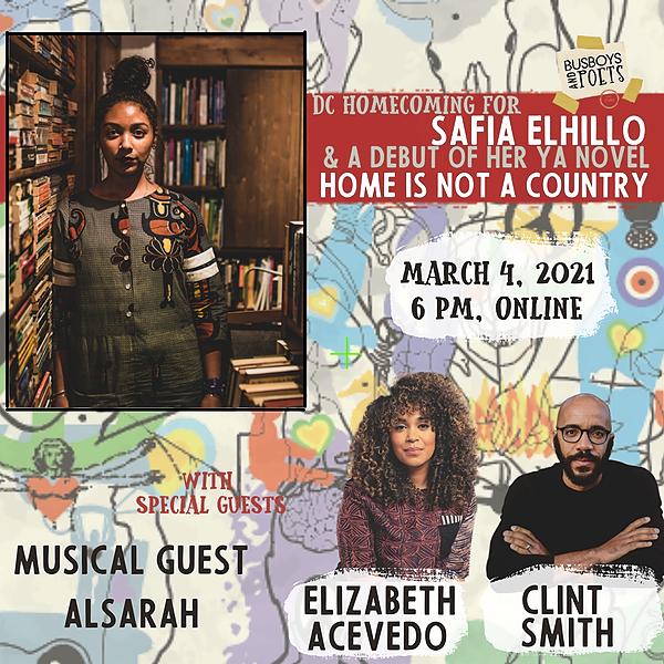 Safia Elhillo:  with Elizabeth Acevedo, Clint Smith, and Alsarah  03/4/21