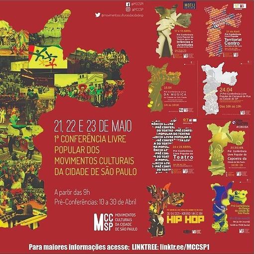1a Conferência Livre Popular Movimentos Culturais da Cidade de SP 21,22,23/05