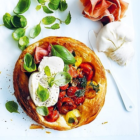 @donnahaymagazine tomato tarts with burrata and prosciutto  Link Thumbnail   Linktree