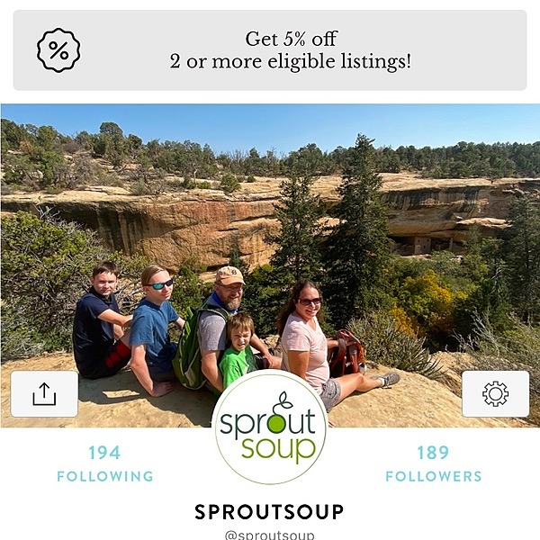SproutSoup on Kidizen - $5 off code nax0g