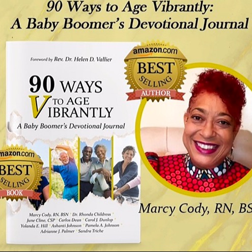 "🤓 ""90 Ways to Age VIBRANTLY! 🏌🏾‍♀️ A Baby Boomers Devotional Journal""🙏🏽 Paperback 📚"