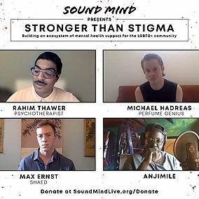Rahim Thawer, MSW, RSW Sound Mind Live - Stronger Than Stigma Panel Link Thumbnail | Linktree