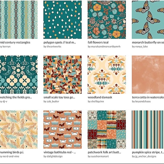@sueshormanart Spoonflower Squad Fall Collection Link Thumbnail   Linktree
