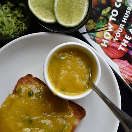 "Eat the Book: ""Mango Puree on Toast"" 