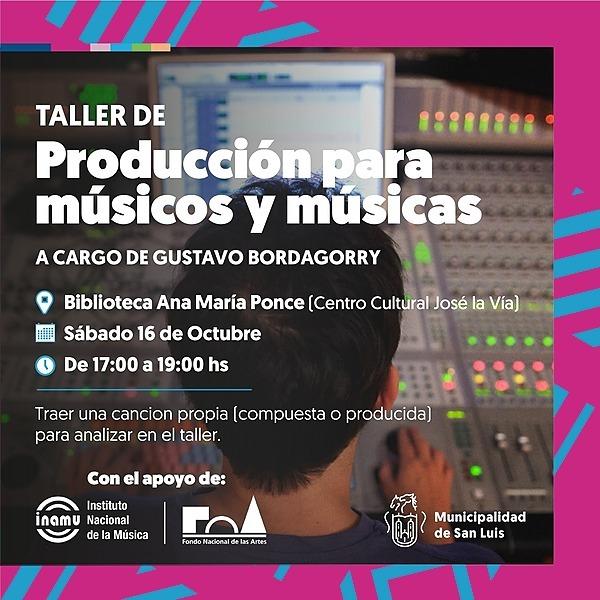 @CulturaSanLuisLaCiudad  Taller de producción para músicos y músicas Link Thumbnail   Linktree