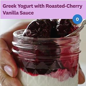 Greek Yogurt With Cherry Sauce