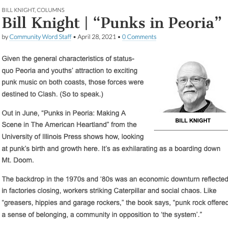 PUNKS IN PEORIA Review:  Community Word (Peoria, IL) Link Thumbnail | Linktree